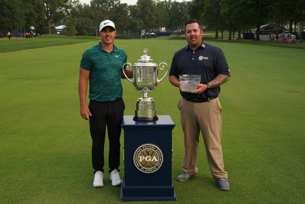Ben Kern and Brooks Koepka at the PGA Championship